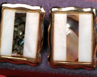 Vintage, Mother of Pearl Cuff Links. Gently Used. Lot V