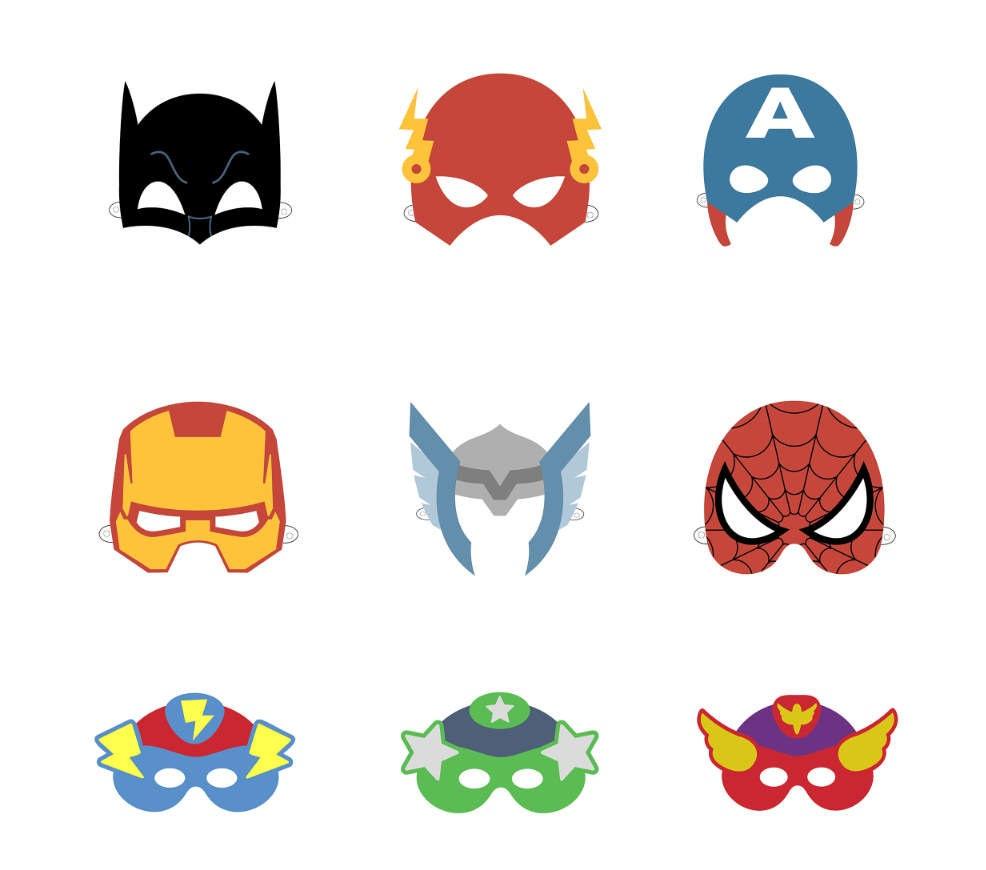 Superhelden Maske zum ausdrucken