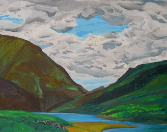 Loch Leaven - original acrylic painting on canvas