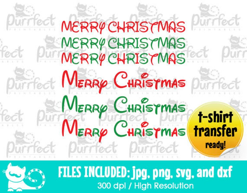 dxf Digital Cut Files in svg png and jpg Printable Clipart Merry Christmas SVG