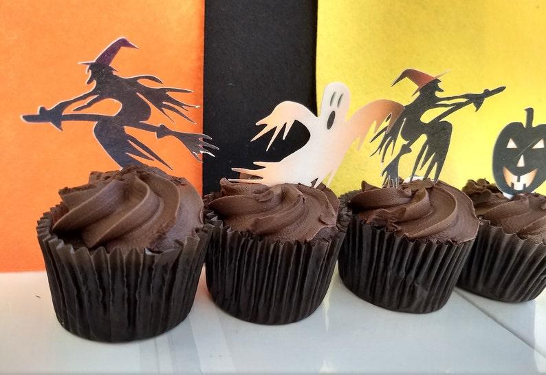 Cupcake U0027Scary Fairy Cakesu0027 Edible Halloween Cake Topper Decorations