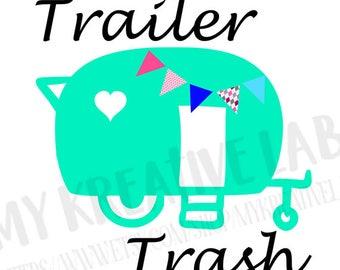 Trailer Trash - Camper Decal