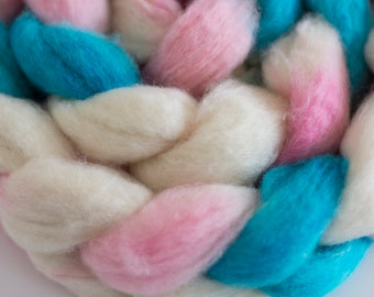 Cotton Candy Hand Dyed BFL Top 6 oz