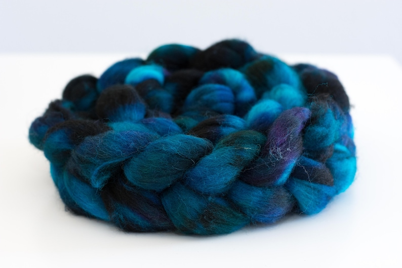 Midnight Hand Dyed Southdown Top 6 oz image 0