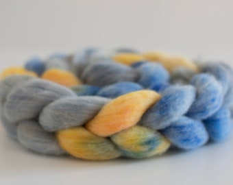Autumn Storm Hand Dyed BFL Top 6 oz
