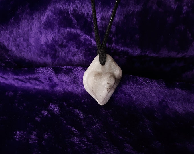 Alabama, Marble, Carved, Stone, Heart, Necklace