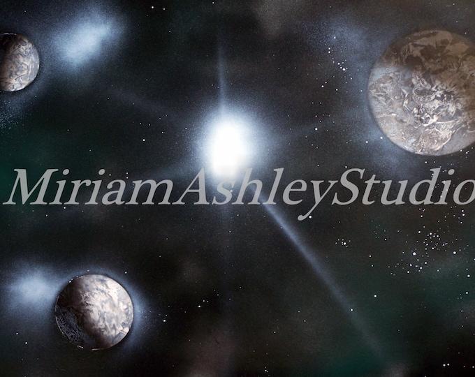 Space, Spray Paint Art,  Digital Photo Download