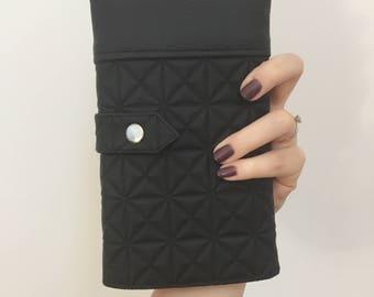Faux purple leather wallet