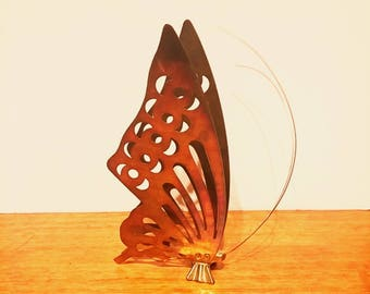 Vintage Brass Butterfly Figurine Sculpture