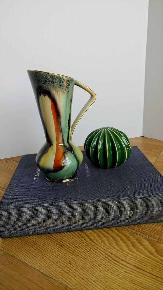 Florero de esmalte verde Dip