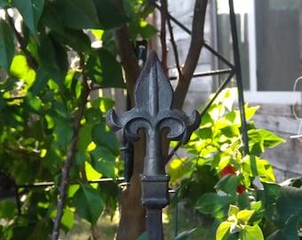 Garden Stake/Cast Iron Garden Stake/Garden Decor/Rustic Garden/Decorative  Garden Stake/Decorative Plant Stake/Wrought Iron Plant Stake