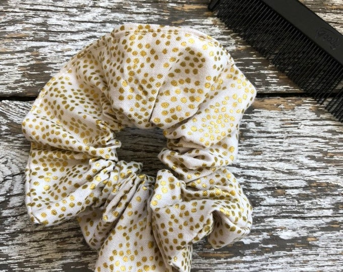 Gold Dot Hair Scrunchie/Hair Tie/Hair Elastic/Hair Accessories/Hair Scrunchie/Scrunchie