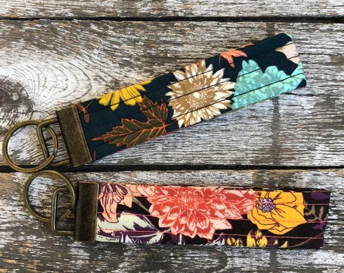 Autumn Vibes Key Fob/Key Chain/Fabric Key Fob/Key Ring/Luggage Tag/Stocking Stuffer/New Driver Gift/Bag Tag/Keyring/Wristlet