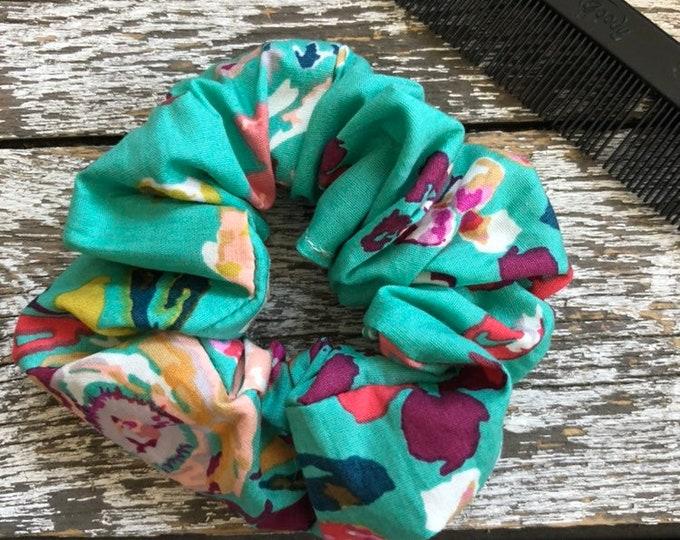 Boho Floral Hair Scrunchie/Hair Tie/Hair Elastic/Hair Accessories/Hair Scrunchie/Scrunchie