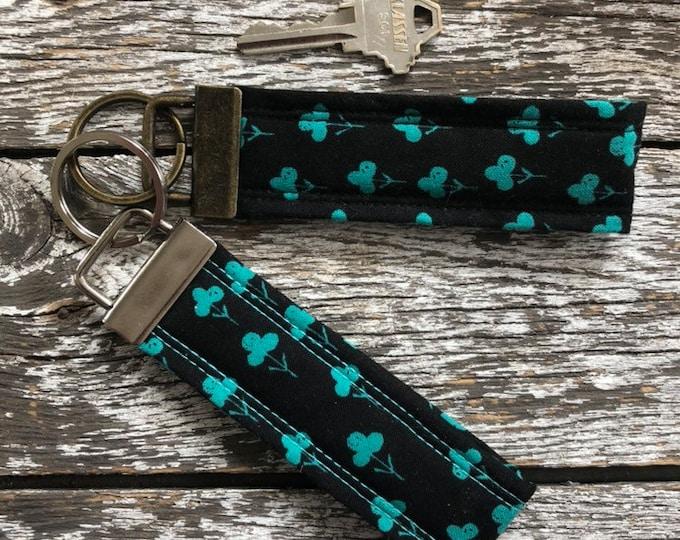 Lucky Fabric Key Fob/Key Chain/Fabric Key Fob/Key Ring/Luggage Tag/Stocking Stuffer/New Driver Gift/Bag Tag/Keyring/Wristlet