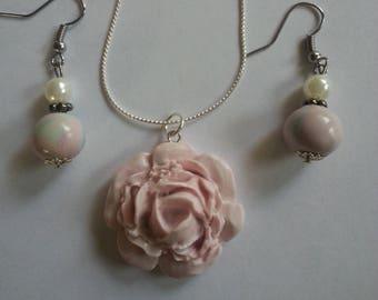 Rose Flower - Polymer Clay Jewelry