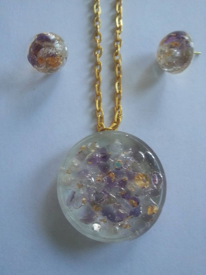 Gemstone Resin Jewelry
