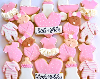 2 dozens /Baby shower/baby shower gifts/baby shower favors/its a girl/baby girl/baby fox/sprinkle party/baby shower decor/cookies/baby gift