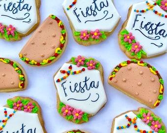 2 dozens /Fiesta cookies/cinco de mayo cookies/Taco Tuesday/ taco cookies/taco party/cookies/Mexico/cinco de mayo cookies/cactus/fiesta