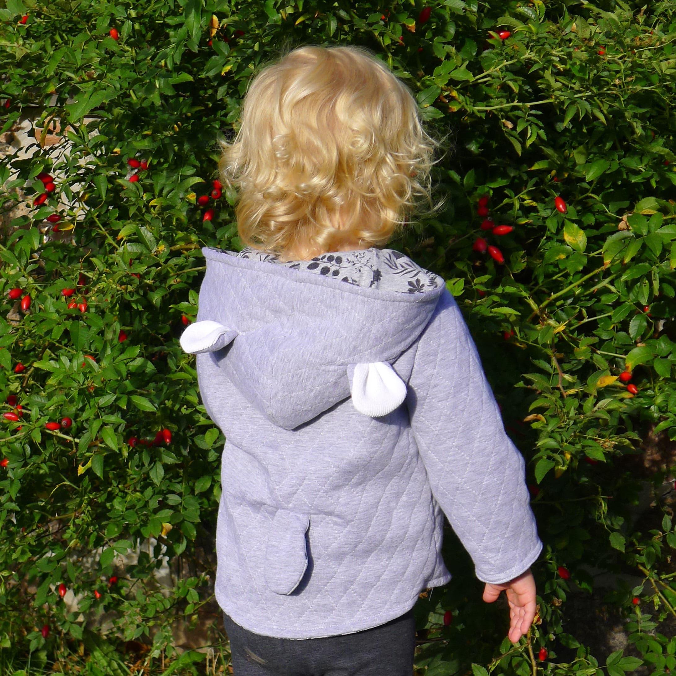 c7a48b3c7 Reversible bear jacket duffle coat quilted jacket padded | Etsy