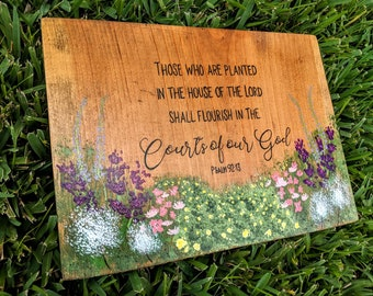 Psalm 9213 Planted In The House Of Lord Handpainted Scripture Christian Art