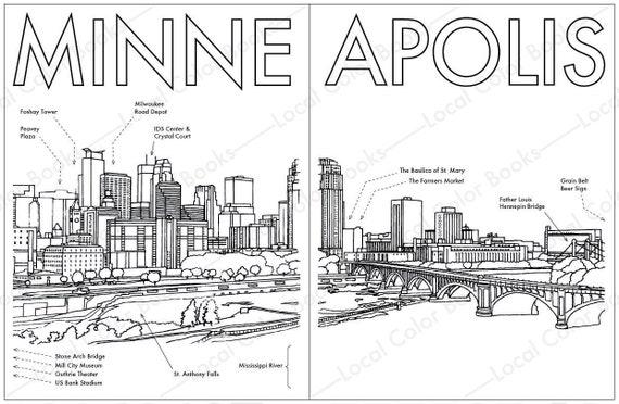 Chicago Skyline Coloring Page Cubs Pages At Getcolorings - City ... | 372x570