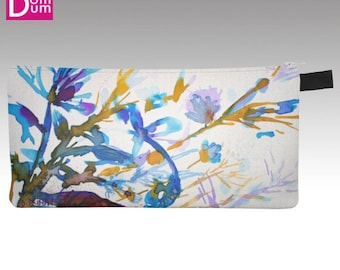 Pencil or makeup, abstract watercolor seaweed pattern case