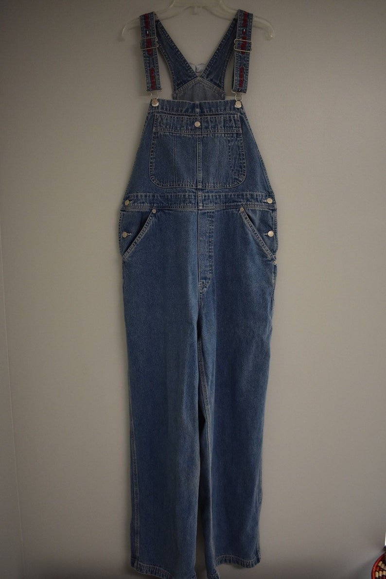 69b61d095e1 Vintage 90s Tommy Hilfiger Overalls denim coveralls spell