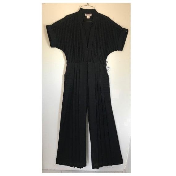 Vintage 70s/ 80s Black Jumpsuit, palazzo, wide leg