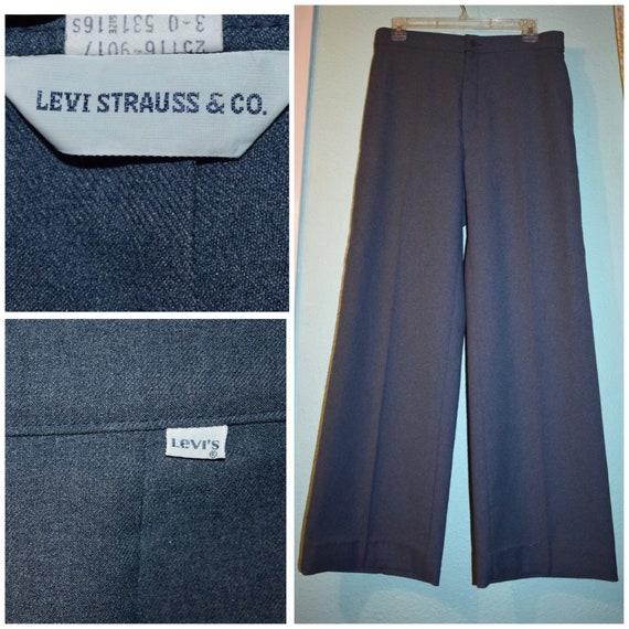 70s Vintage Pink High Waisted Wide Leg Flare Pants Slacks Vintage 14 Mod Day 12