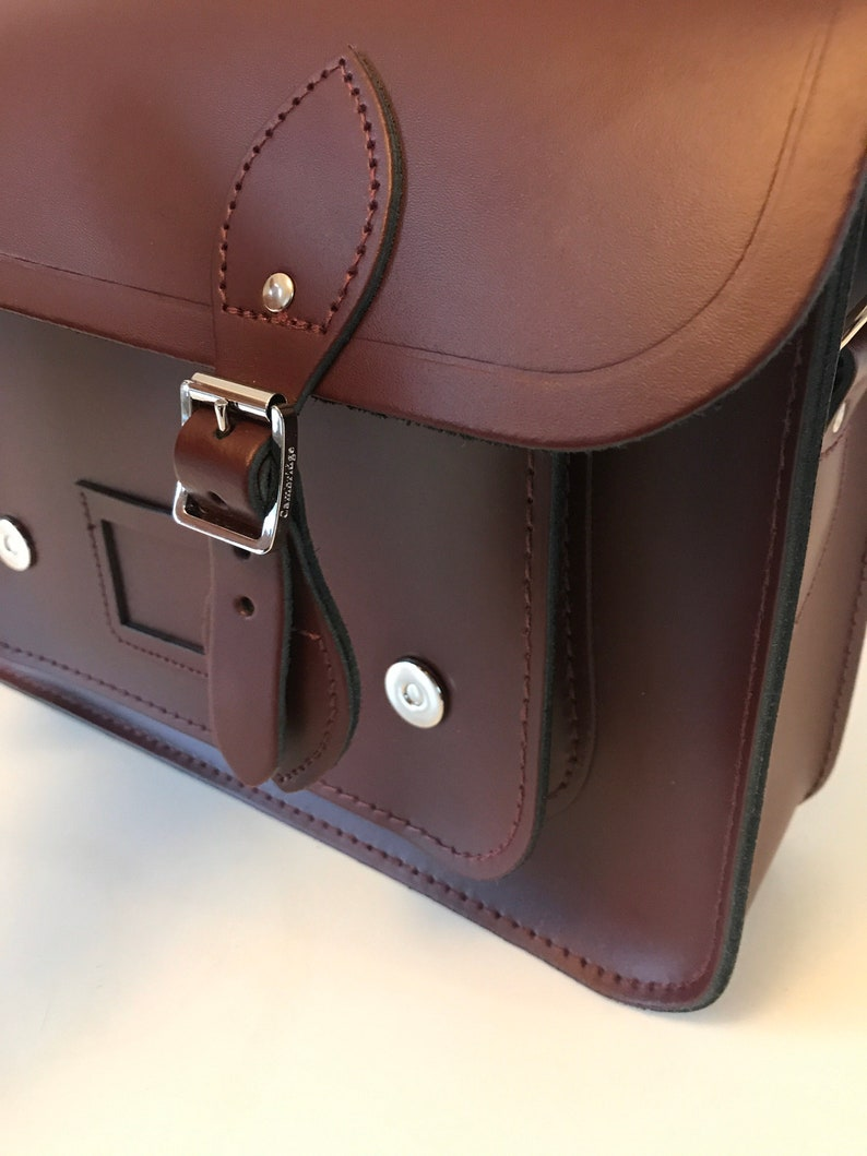 Besace Bag The Cambridges Satchel Company leather Bordeau Neuf