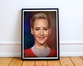 Jennifer Lawrence, Fan Art, Digital Art, Celebrity Painting, Poster Print, Instant Download