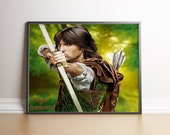 Robin of Sherwood, Michael Praed, Digital Art, Fanart Painting, Poster Print, Instant Download