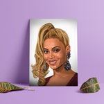 Beyonce, Queen Bey, Digital Art, Celebrity Painting, Poster Print, Instant Download