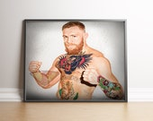 Conor McGregor Digital Art, The Notorious MMA Painting, Poster Print, Instant Download
