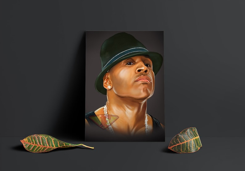 LL Cool J Digital Art Celebrity Painting Poster Print image 0