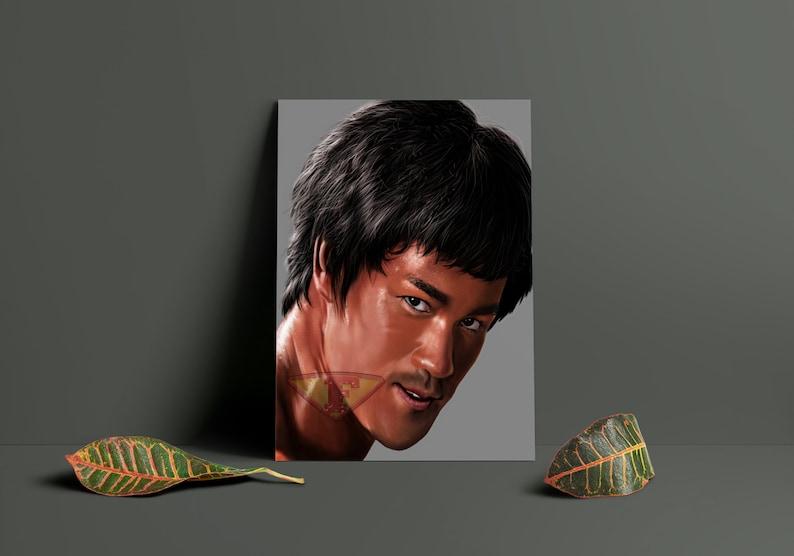 Bruce Lee Fan Art Digital Art Celebrity Painting Poster image 0