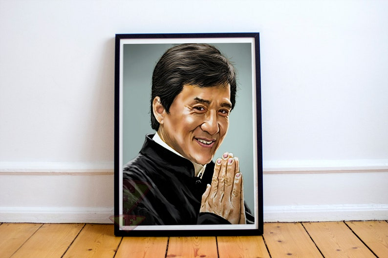Jackie Chan Fan Art Digital Art Celebrity Painting Poster image 0