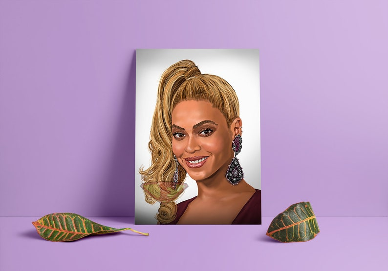 Beyonce Queen Bey Digital Art Celebrity Painting Poster image 0