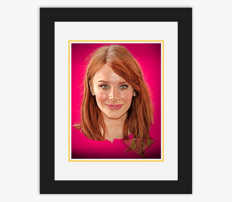 Bryce Dallas Howard Digital Art Celebrity Painting Poster image 0