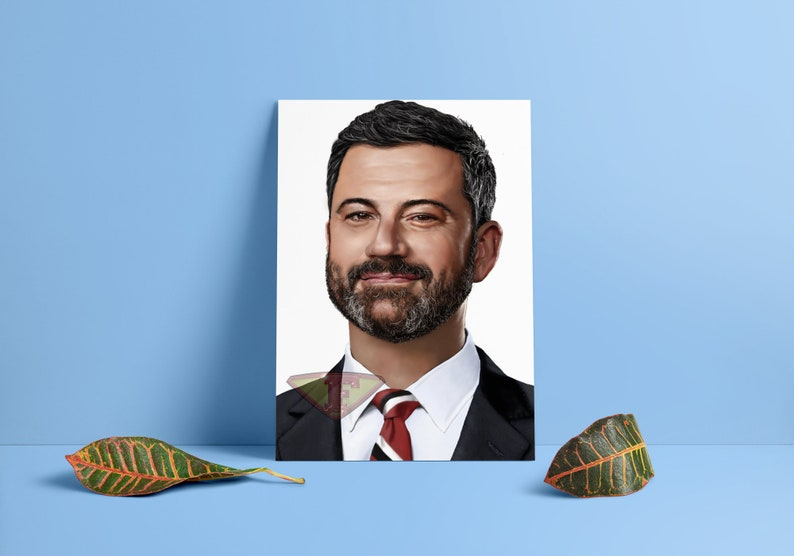 Jimmy Kimmel Fan Art Digital Art Celebrity Painting Poster image 0