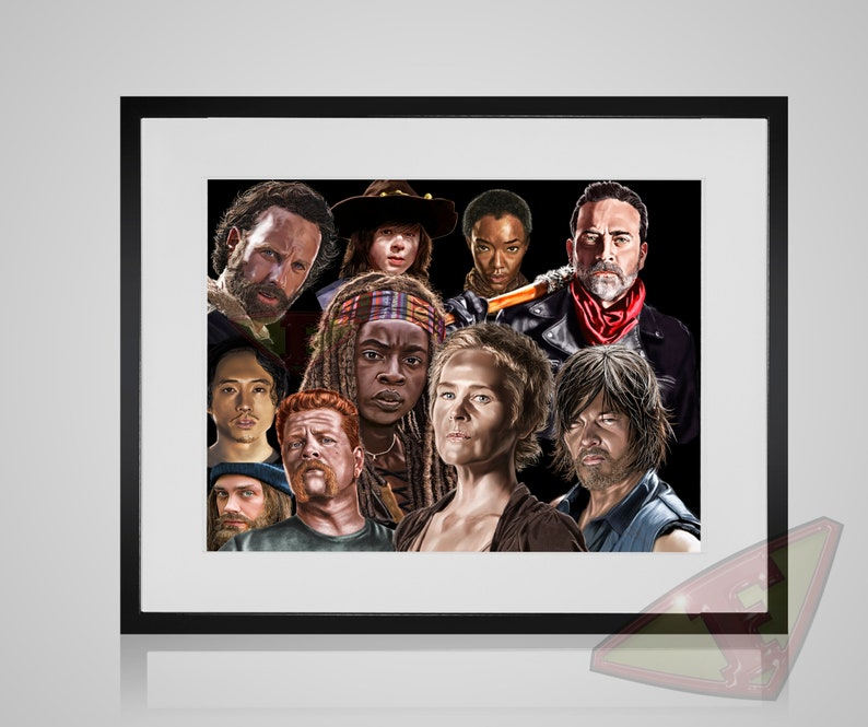 The Walking Dead Fanart Digital Art Fanart Painting Poster image 0