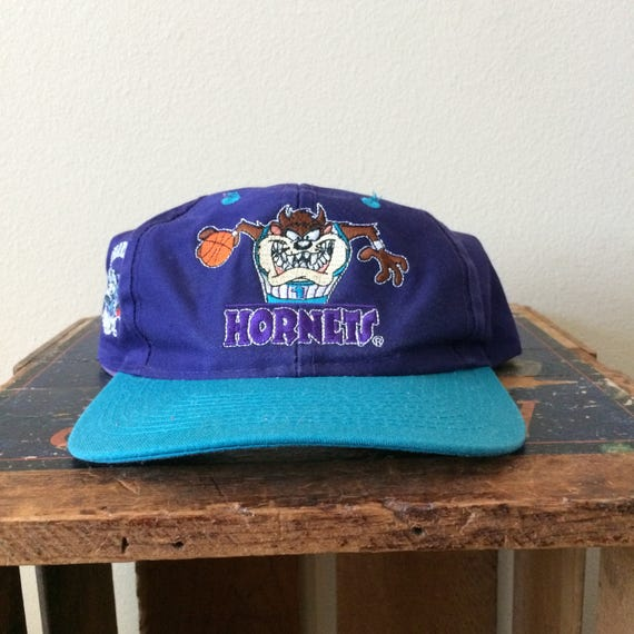 Vintage Charlotte Hornets Taz Snapback Hat  fc24271aaf8