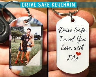 Boyfriend Keychains Gift For Anniversary Key Chain Him Photo Personalized Custom Picture