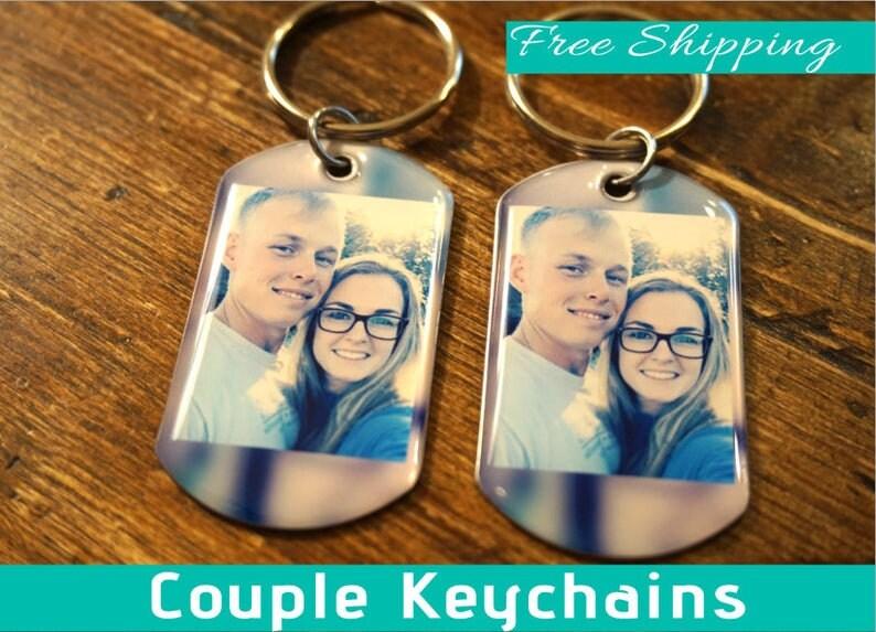 Photo boyfriend Keychains Gift For Boyfriend Anniversary Gift Custom Gift For Him Key Chain picture Photo gift Personalized