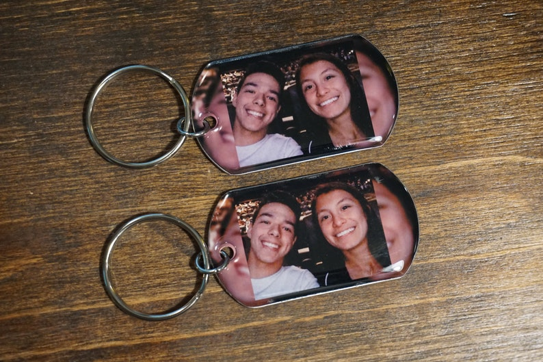 Key Chain Personalized Custom Photo Gift For Boyfriend Photo gift Gift For Him picture boyfriend Keychains Anniversary Gift