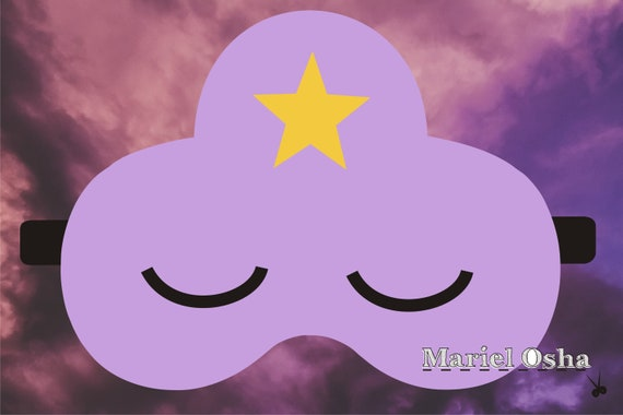 Lumpy Space Princess Sleep Mask Template Adventure Time
