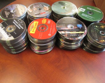 Lot of 500 CD / DVDs to Recycle for Mosaic Arts and Craft Supplies
