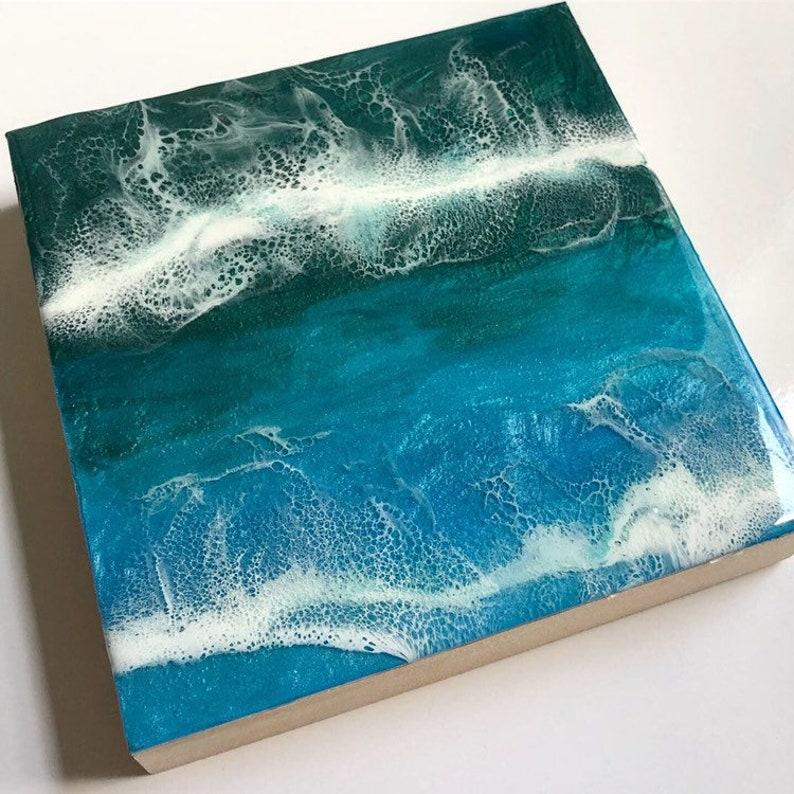 Canvas 8X8 turquoise ocean image 0