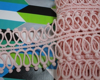 4 34 yards in 1 34 width in rose color crochet cotton trimnovelty trim for your fashionwedding design decorative